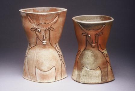 Pots with Bull 1 & 2